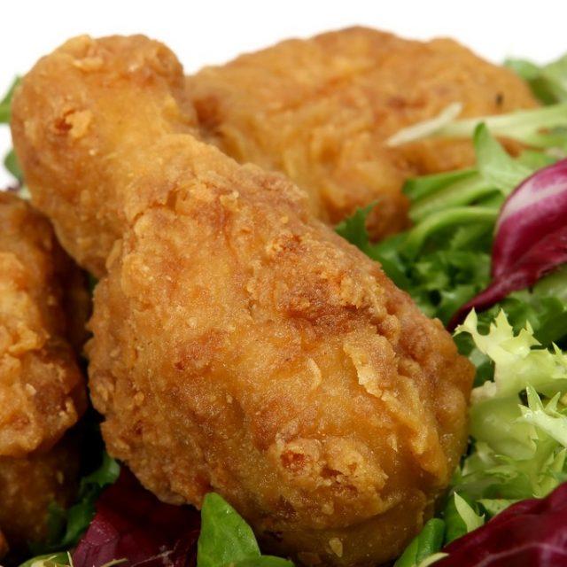 muslo de pollo frito