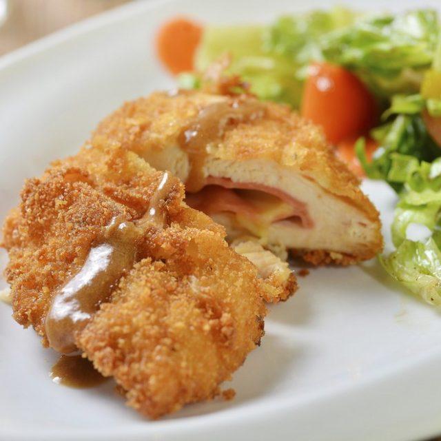 pollo frito relleno