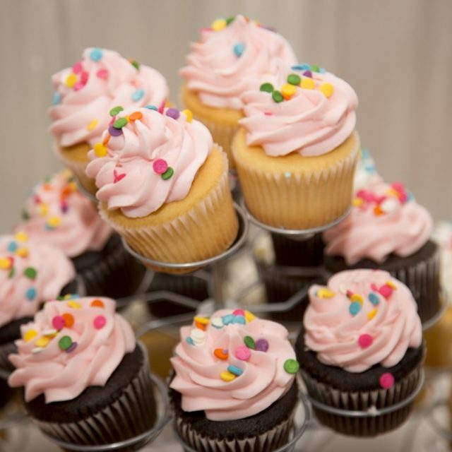 cupcake lustre rosa