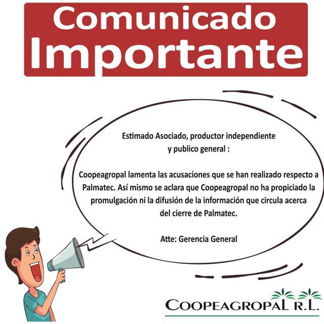 comunicado coopeagropal