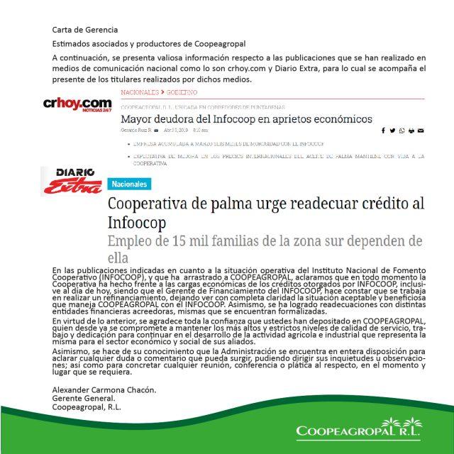 Carta coopeagropal