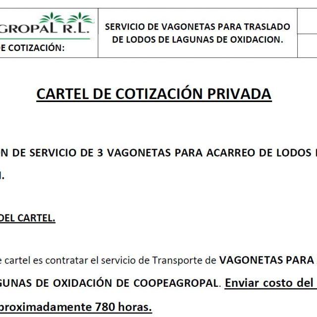 cartel cotizacion coopeagropal