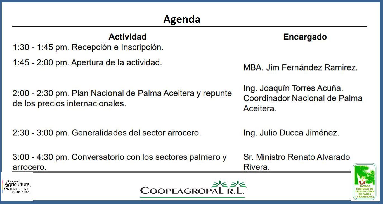 agenda conversatorio MAG